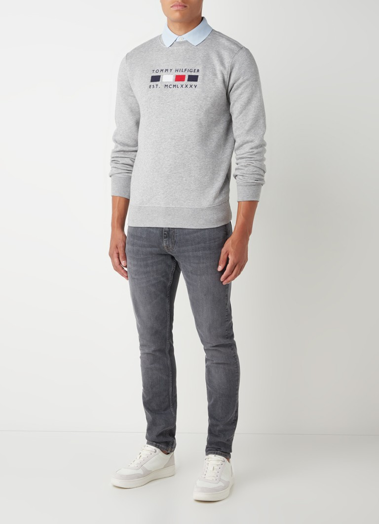 Tommy Hilfiger Four Flags sweater met logoborduring