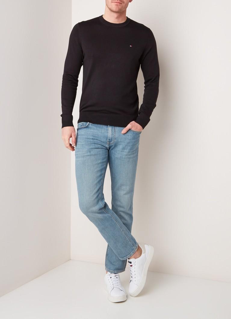 Tommy Hilfiger Fijngebreide pullover in zijdeblend