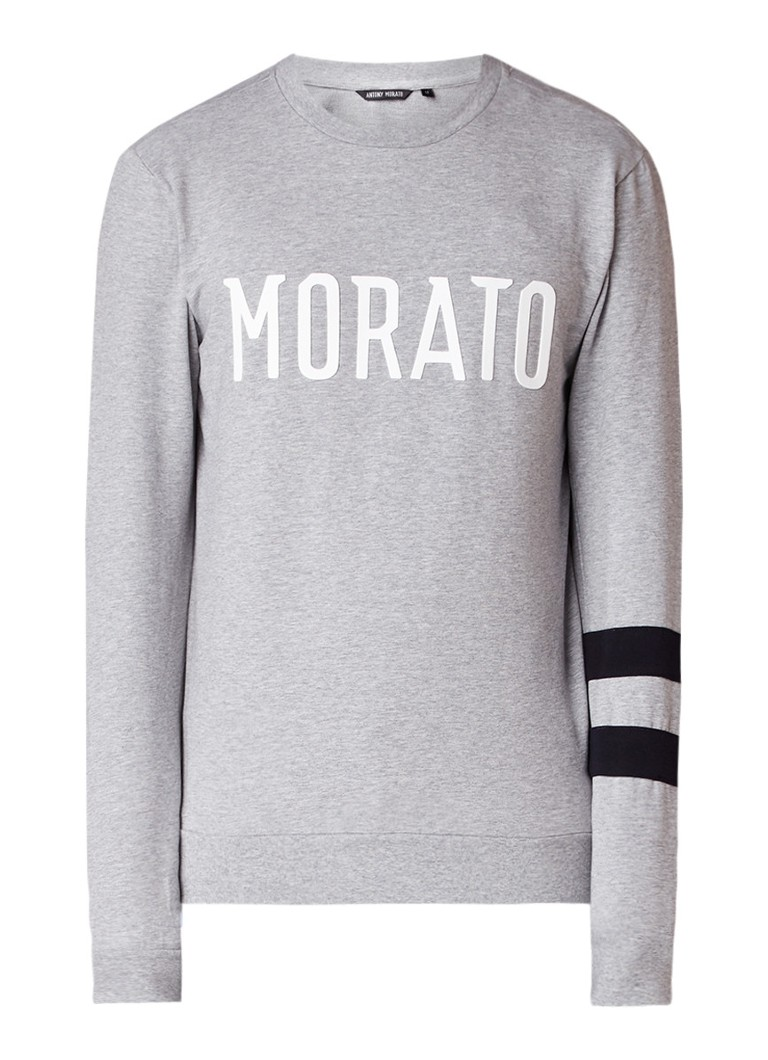 Antony Morato Sweater met logo en streepdetails