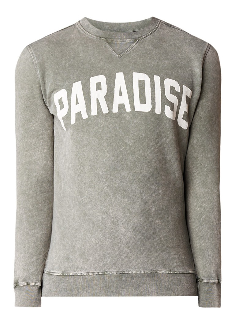 Antony Morato Paradise sweater met washed look