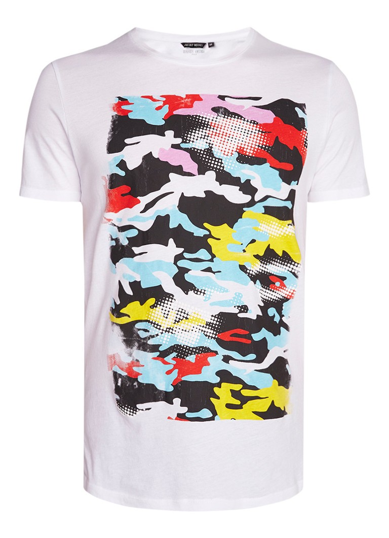Antony Morato T-shirt met camo print
