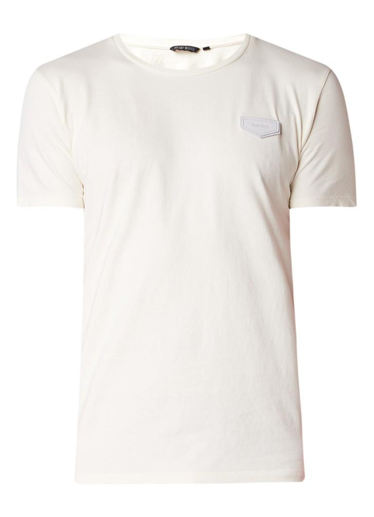 Antony Morato T-shirt van katoen met logopatch