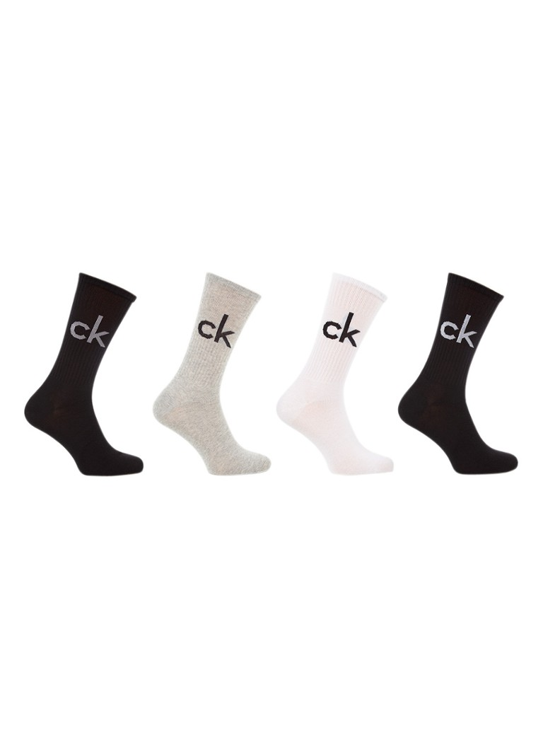 Calvin Klein Sokken met logo in 4-pack