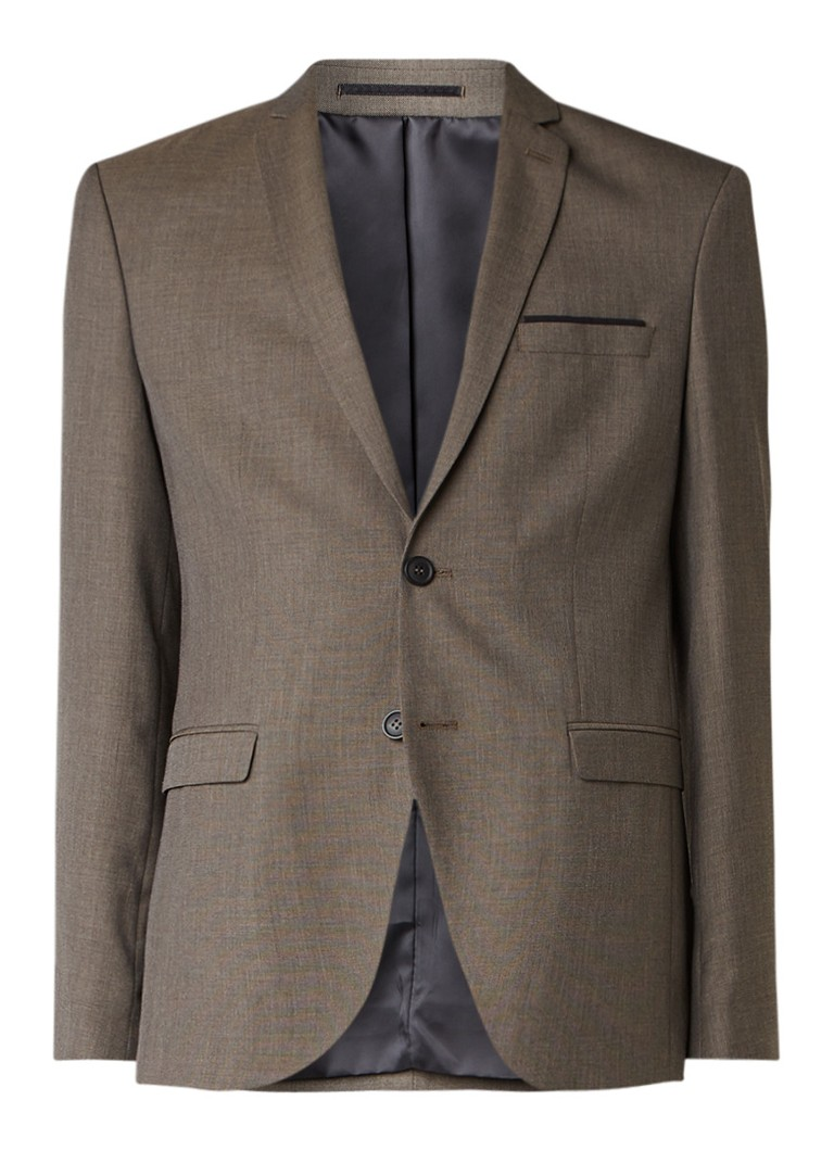 Selected Homme Done Jet slim fit colbert met klepzakken