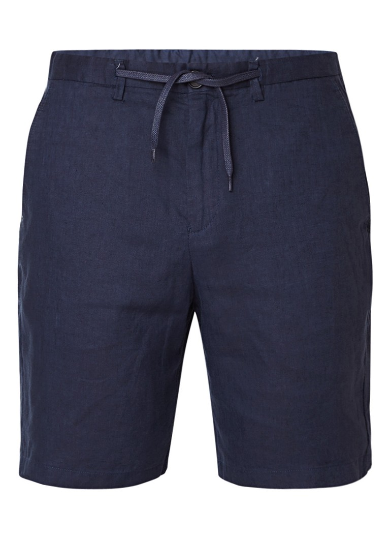 Selected Homme Tapered fit chino shorts van linnen