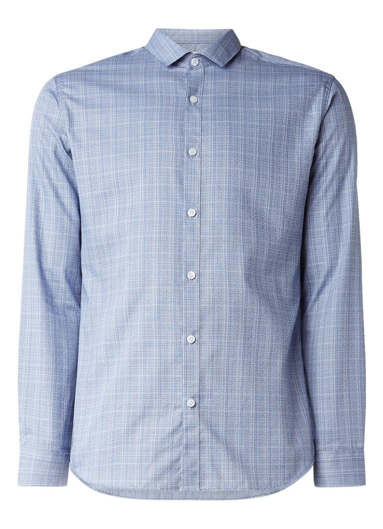 Selected Homme Slim fit strijkvrij overhemd met gemêleerd dessin