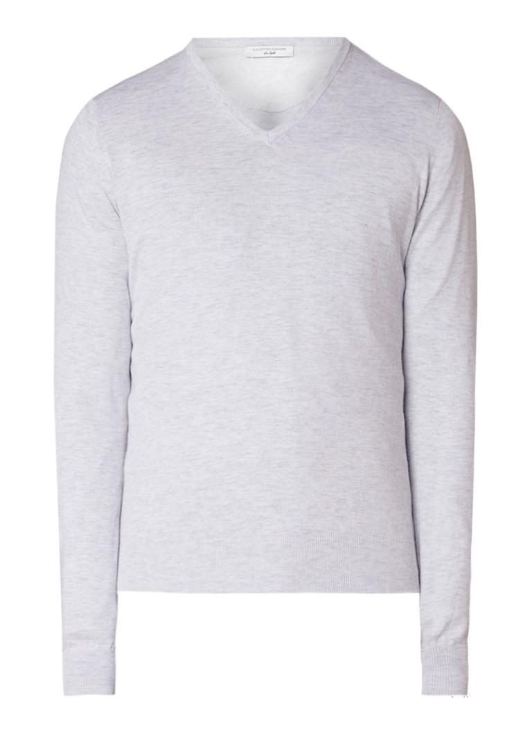 Van Gils Glow fijngebreide pullover in zijdeblend