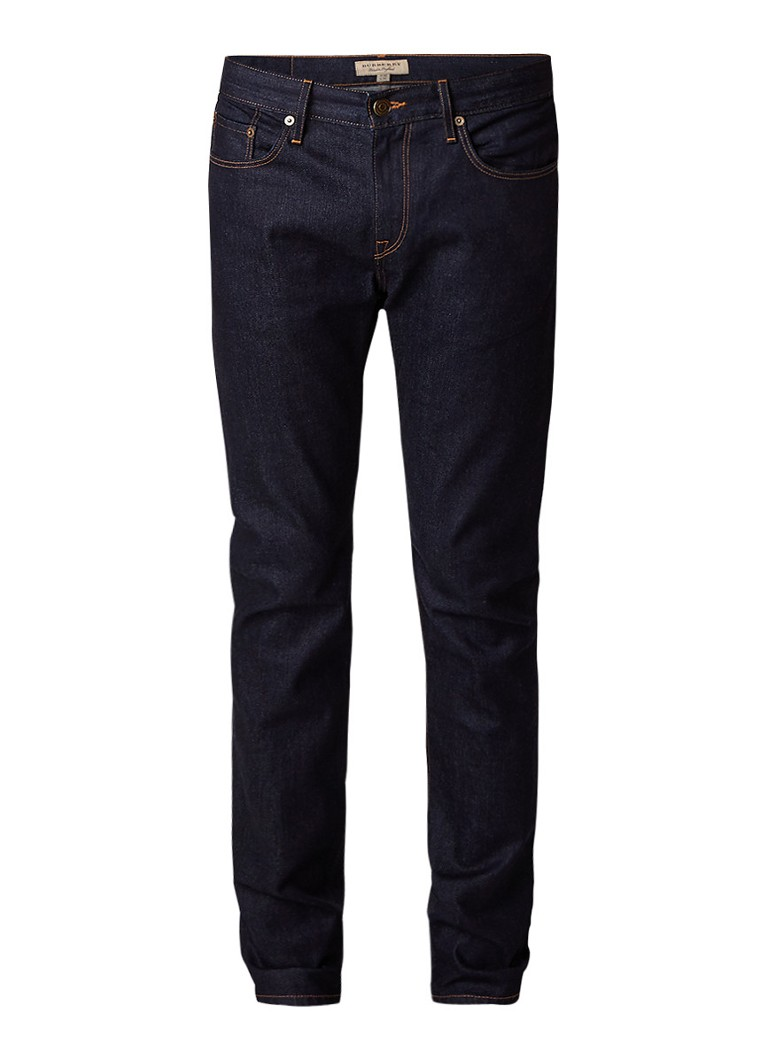 BURBERRY Mid rise slim fit jeans in donkere wassing