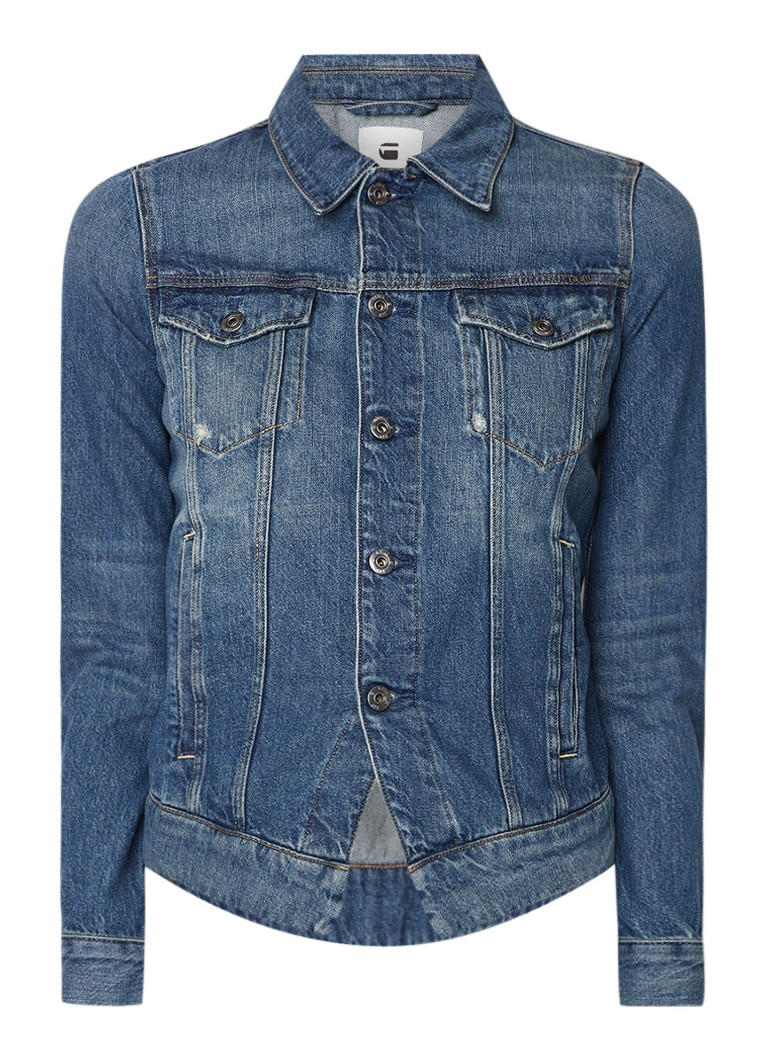 G-Star RAW Denim jack met vintage look en klepzakken