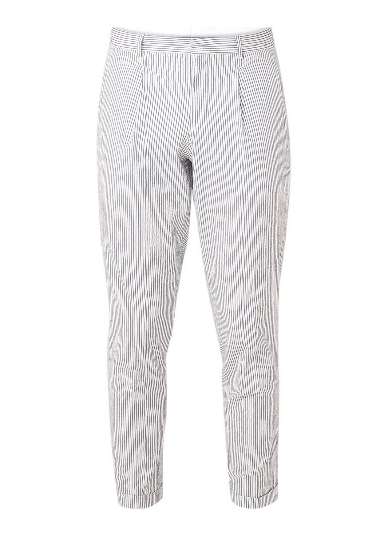 Selected Homme Seersucker slim fit pantalon met streepdessin kopen