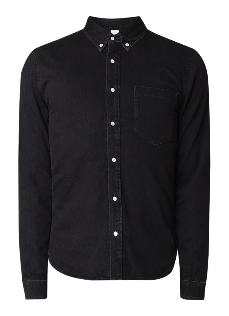 Sandro Heritage button down overhemd van katoen