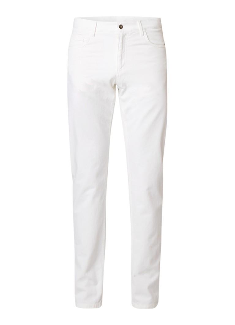 Profuomo Straight fit 5-pocket jeans met lichte wassing