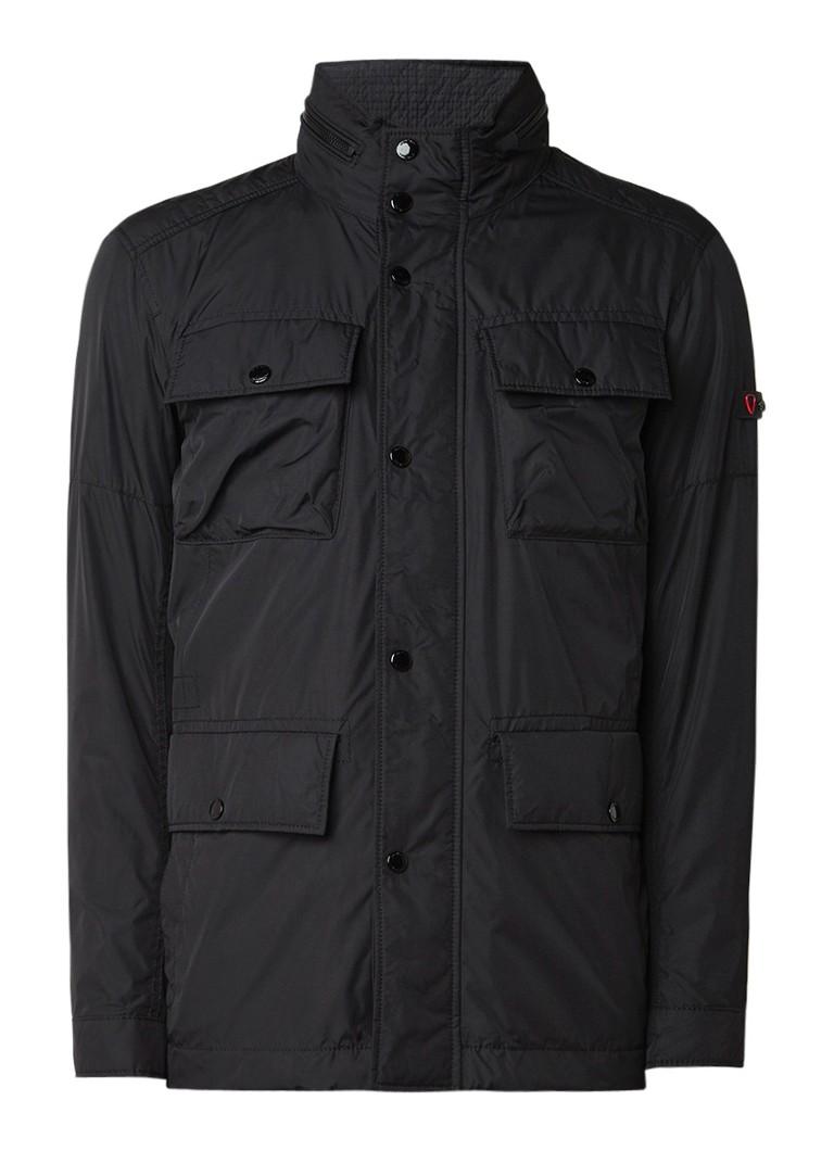 Strellson Strong waterbestendige field jacket met verborgen capuchon