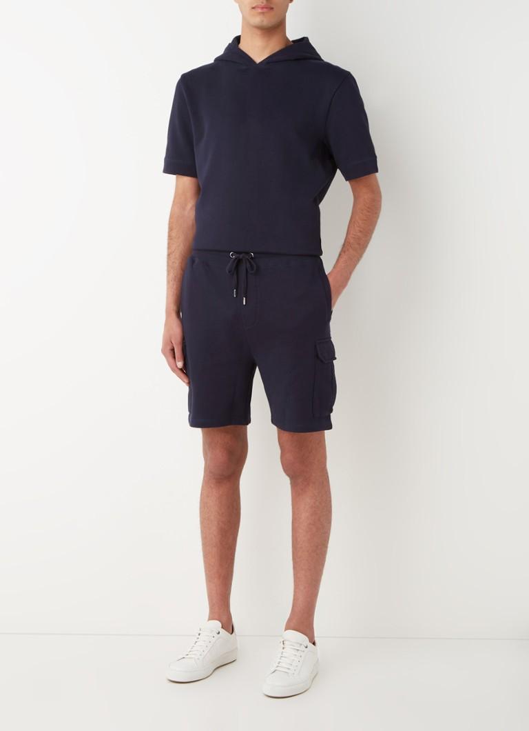 Loose fit korte joggingbroek van katoen