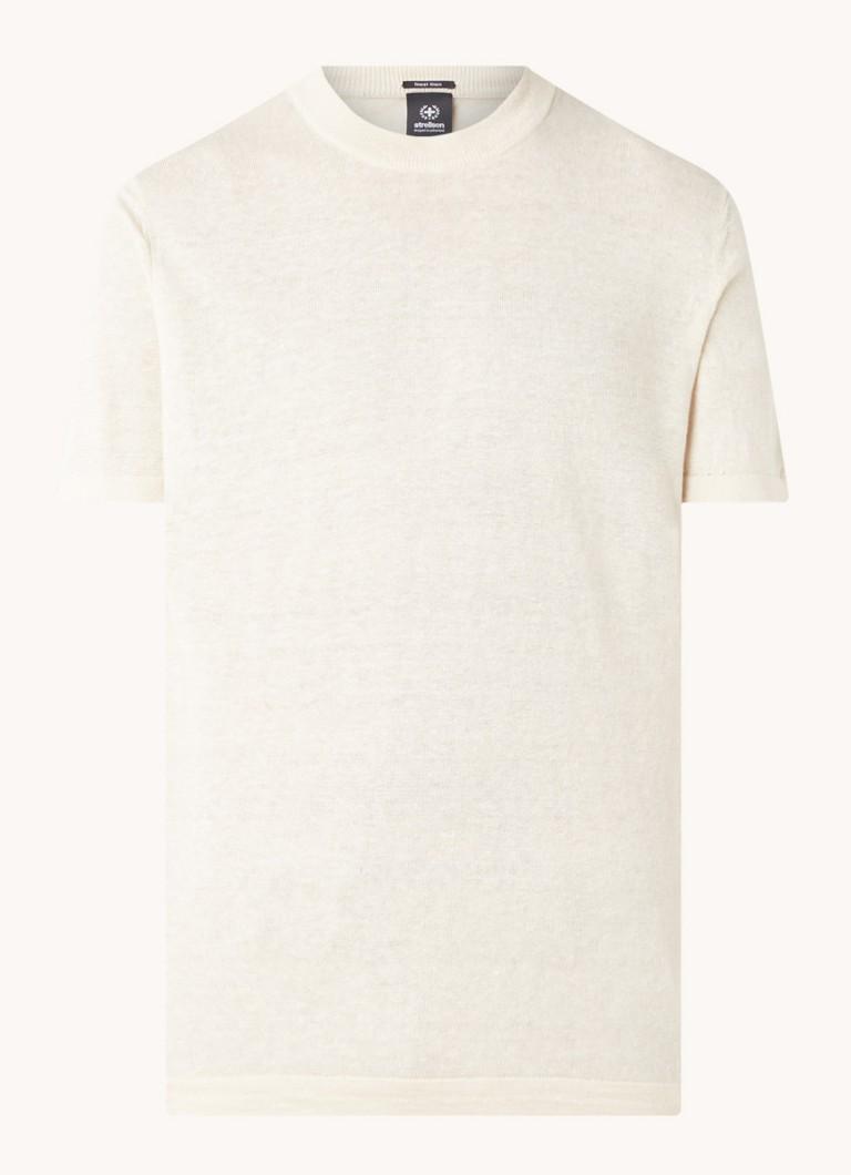 Fijngebreid T shirt van linnen