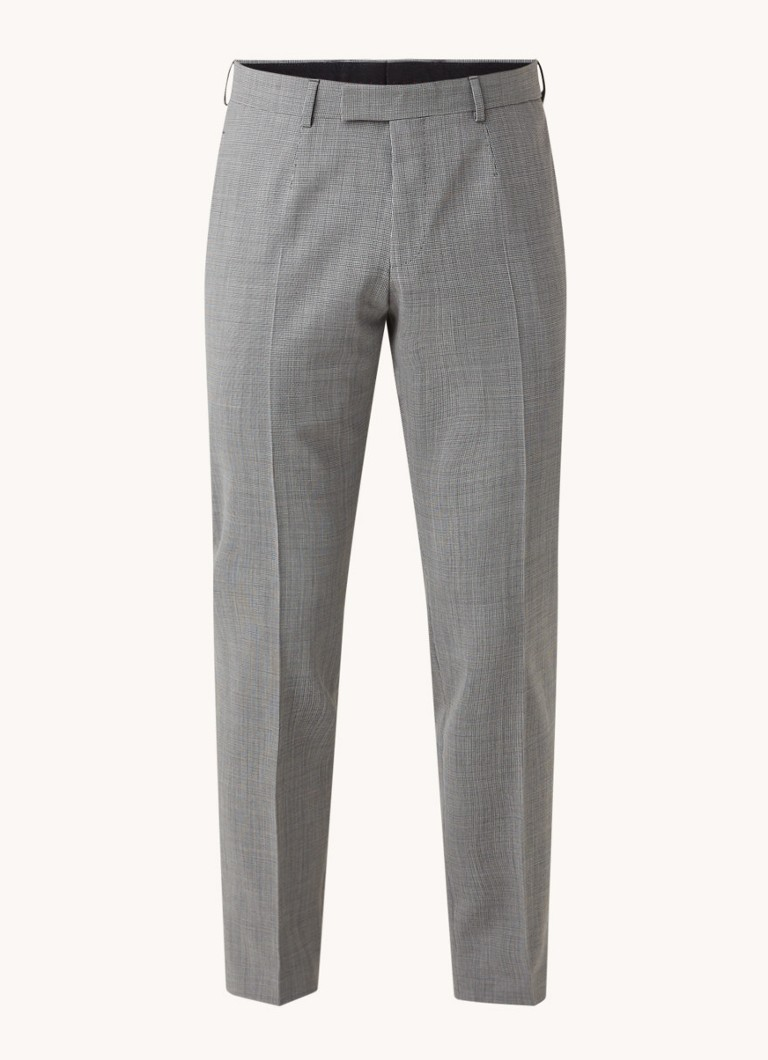 Strellson Master slim fit pantalon met microdessin