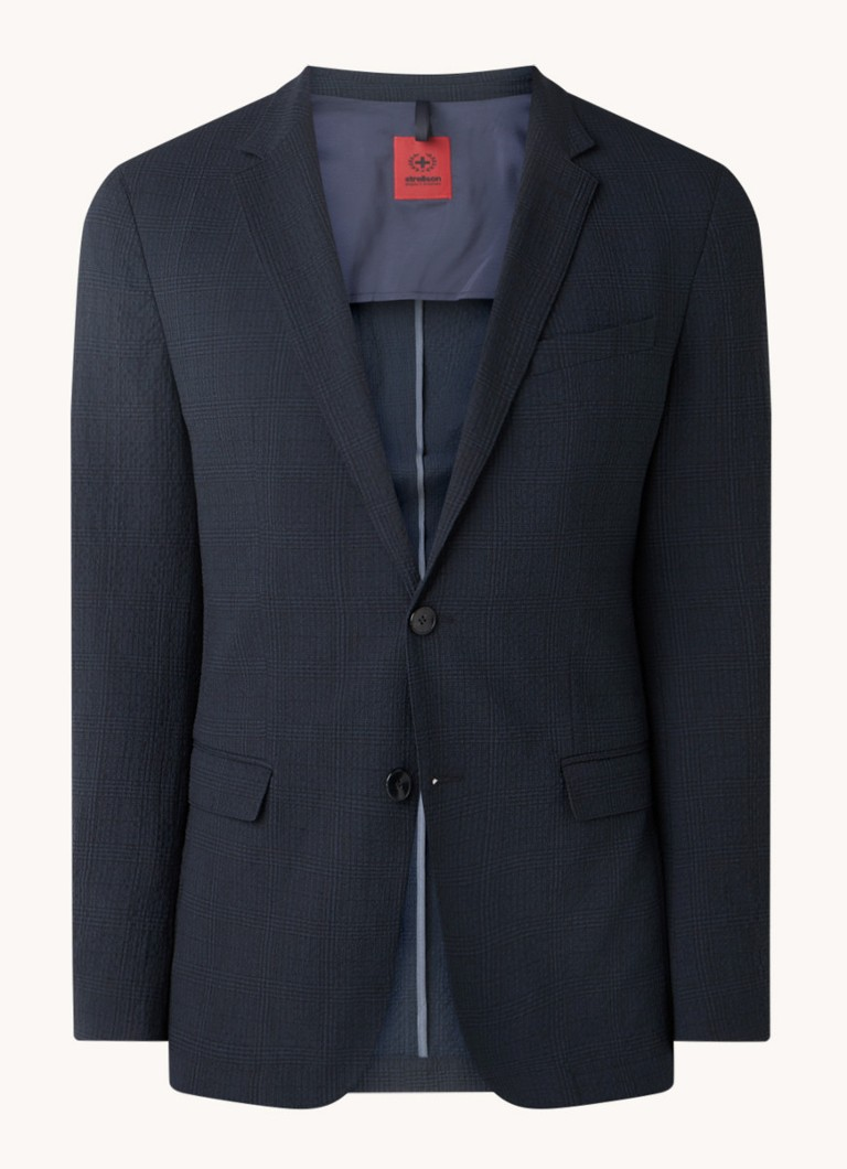 Extra slim fit blazer met ruitdessin