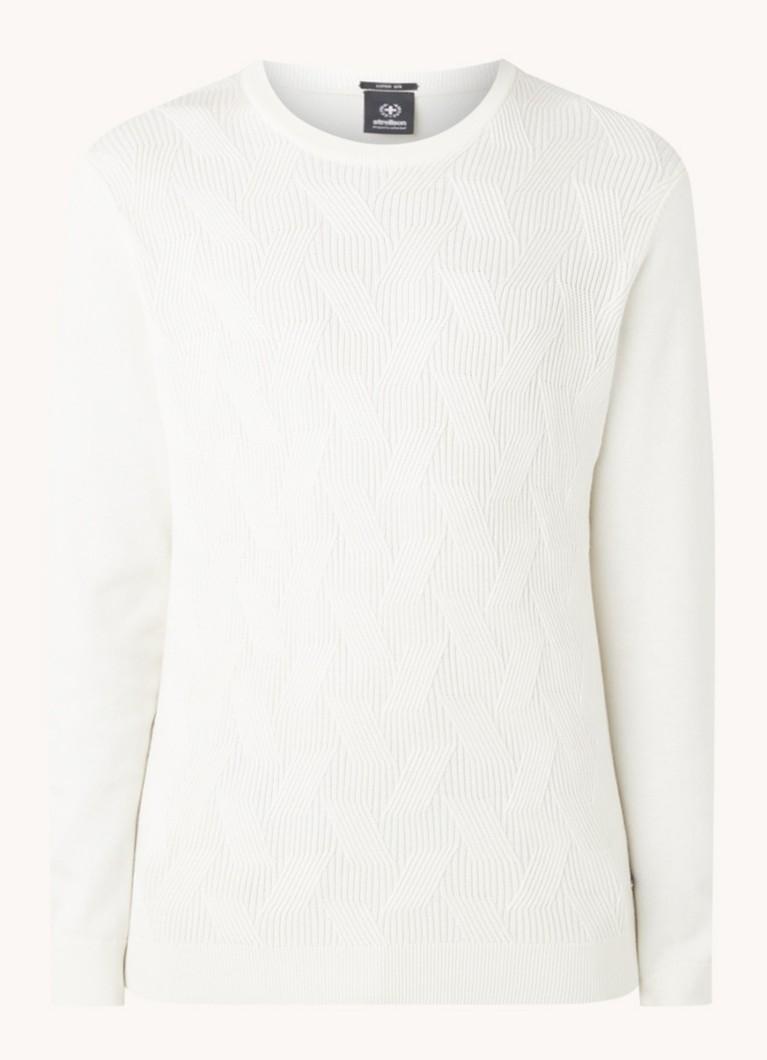 Kabelgebreide pullover in zijdeblend