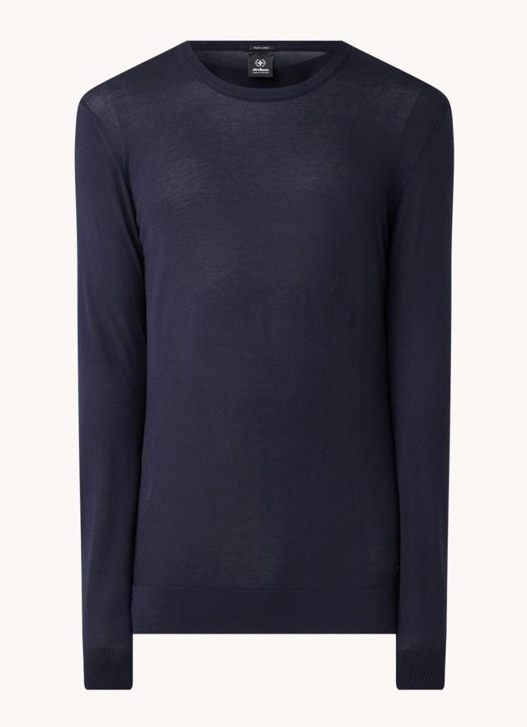Strellson Fijngebreide pullover van katoen