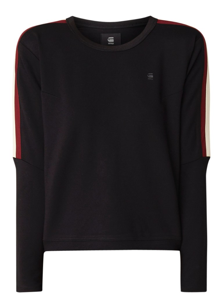 G-Star RAW Nostelle cropped sweater met contrastbies