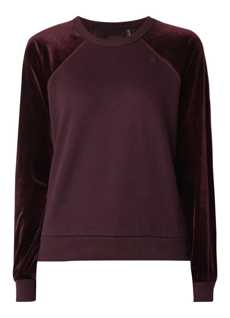 Image of G-Star RAW Kikko sweater met mouwen van velours