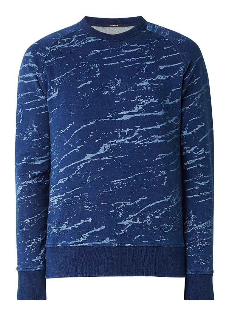 Denham Kruiman sweater met camouflage print