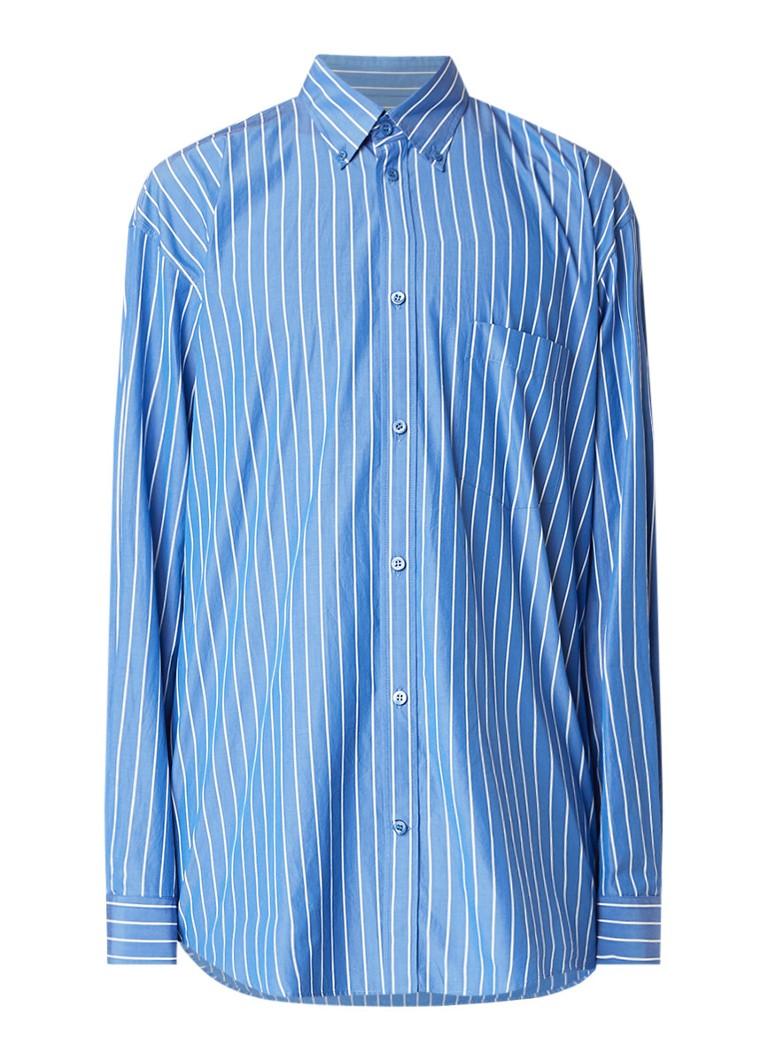 Balenciaga Comfort fit overhemd met logoprint op achterzijde