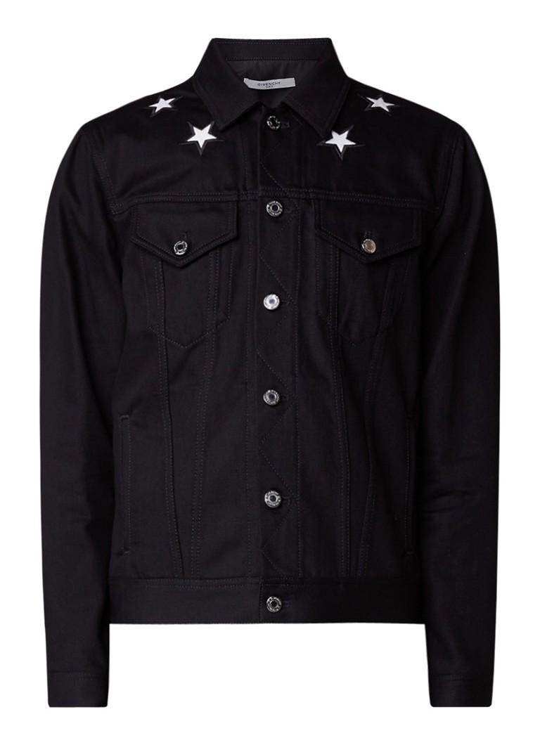 Givenchy Spijkerjack met steekzakken en patches