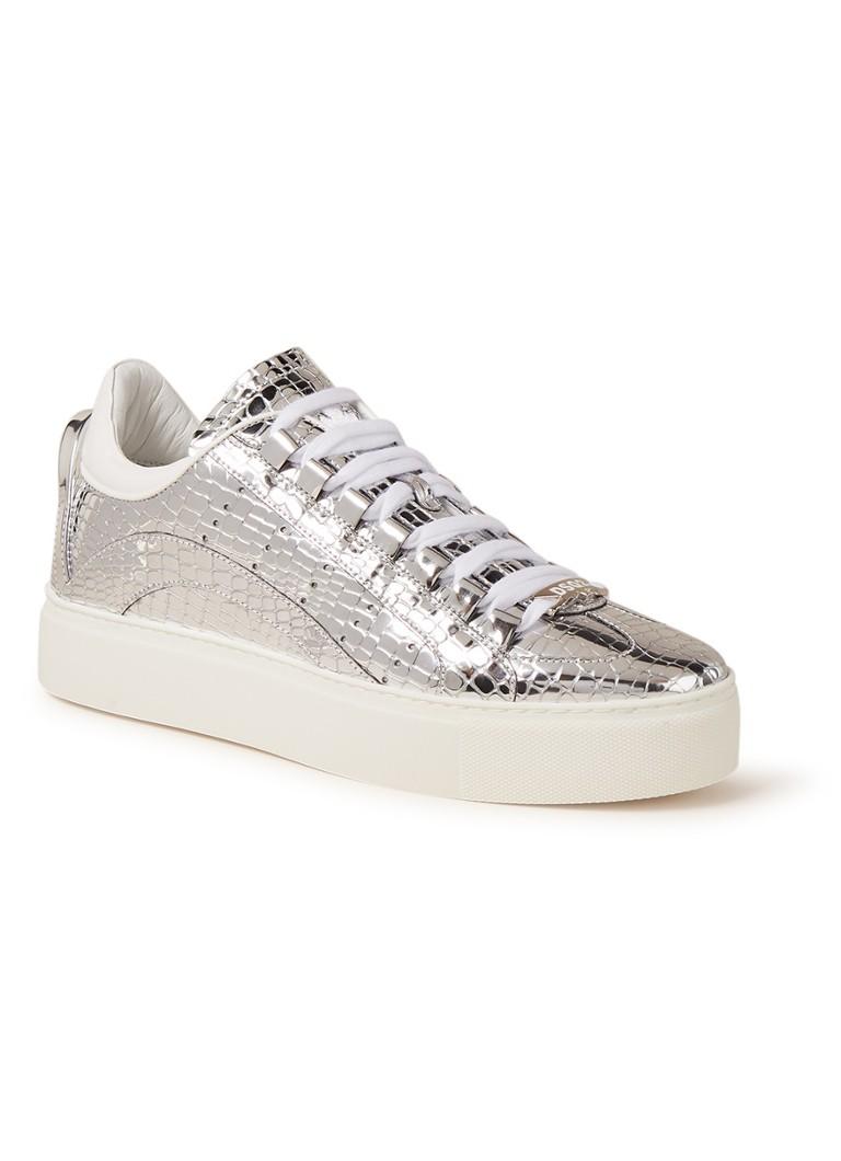 Image of Dsquared2 551 sneaker met croco structuur