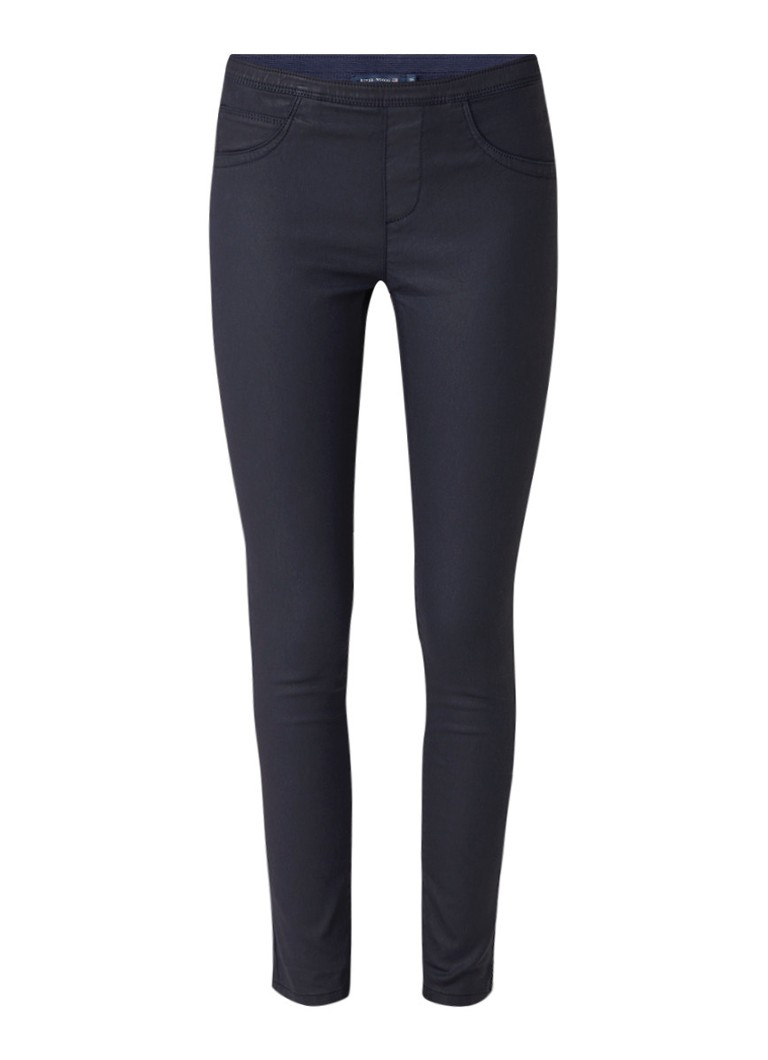 River Woods Mid rise legging fit jeans met coating