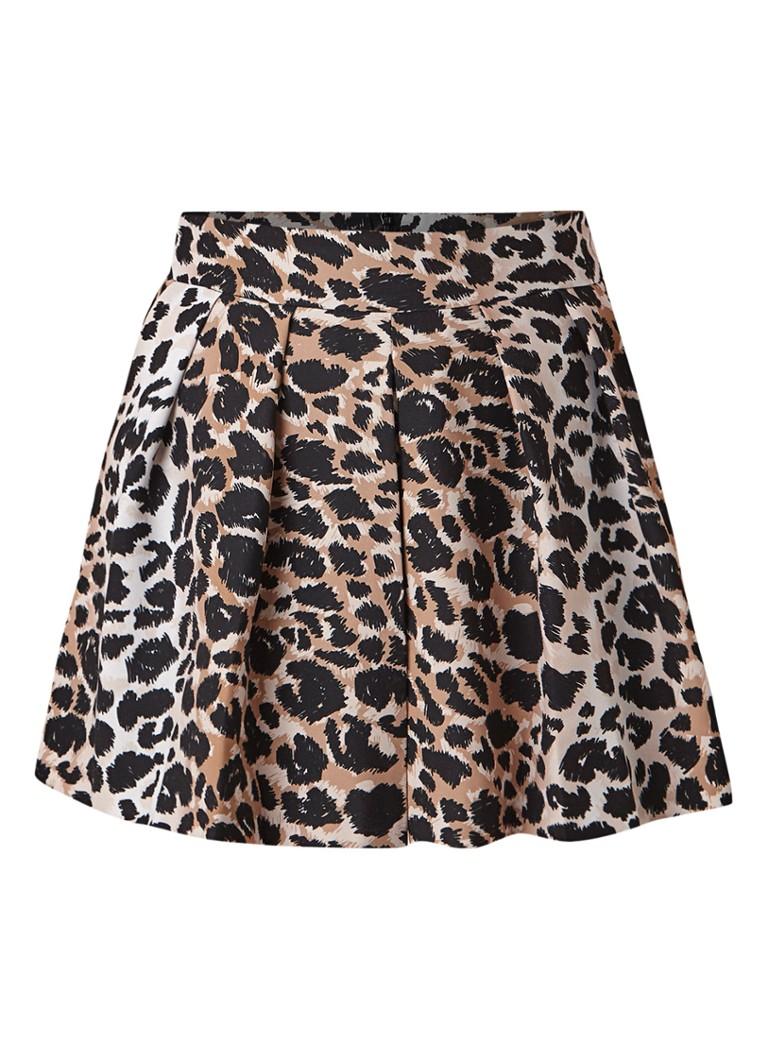 Colourful Rebel Kendall shorts met luipaarddessin