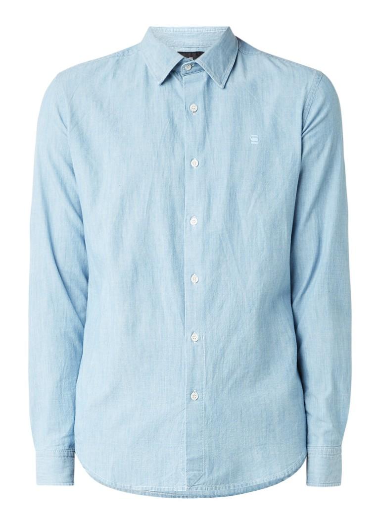 G-Star RAW Core slim fit overhemd van chambray