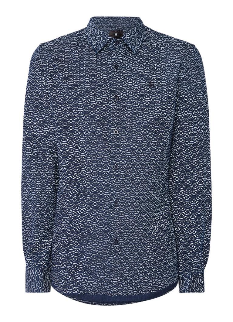 G-Star RAW Core slim fit overhemd met dessin