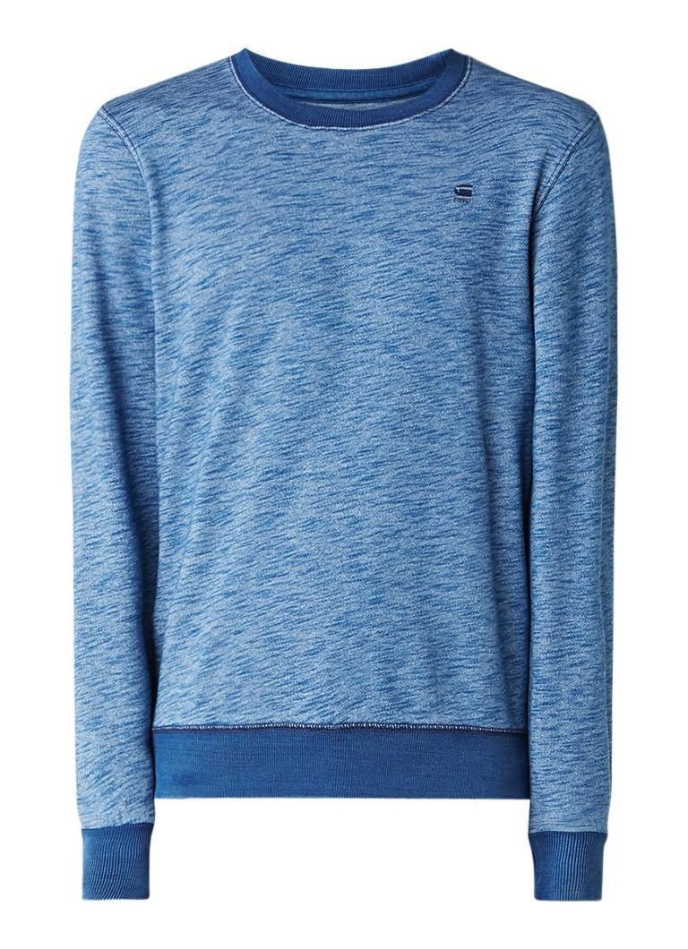 G-Star RAW Core gemêleerde sweater met logoborduring