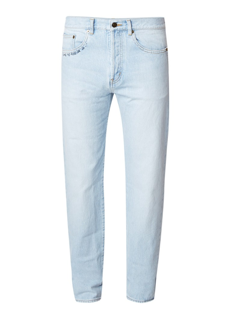 Saint Laurent High rise slim fit jeans in lichte wassing