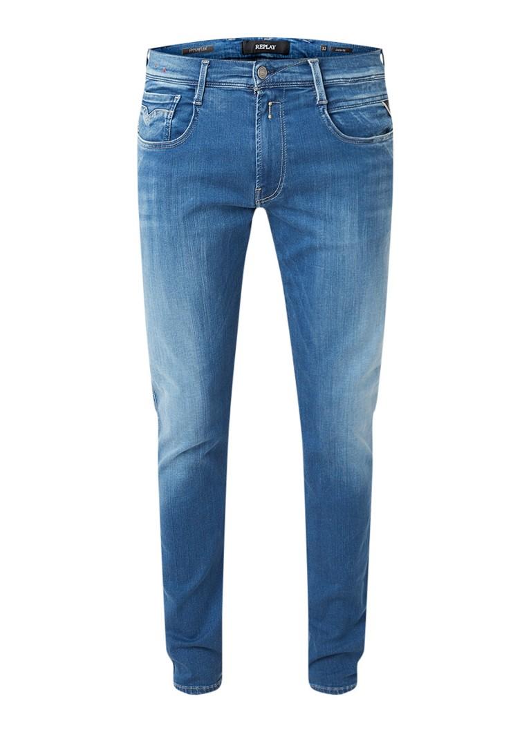 Replay Anbass Hyperflex slim fit jeans met stretch