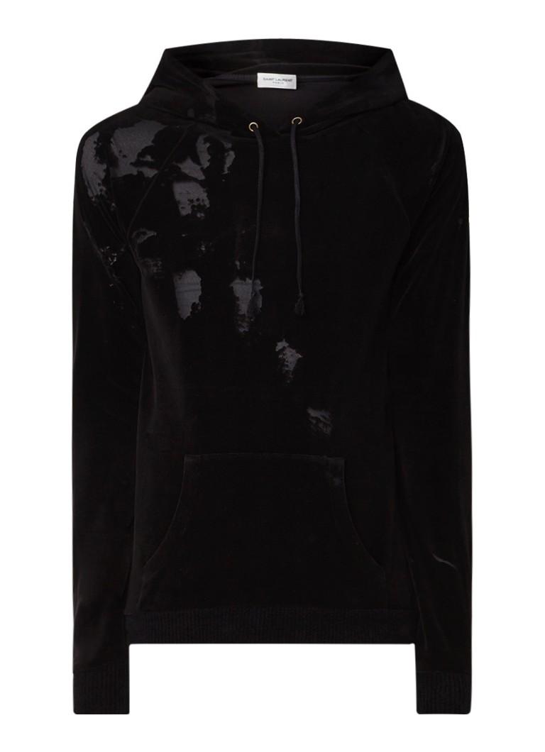 Yves Saint Laurent Devore hoodie van fluweel met burn-out dessin