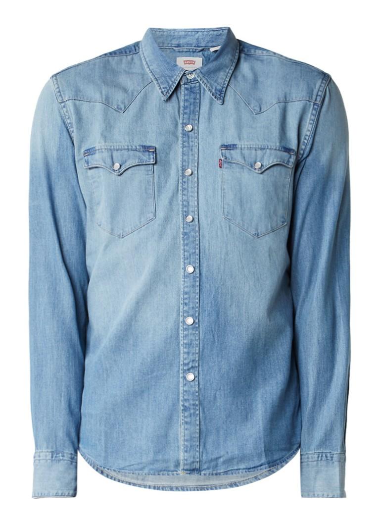 Levi's Mid Western denim overhemd met drukknoopsluiting