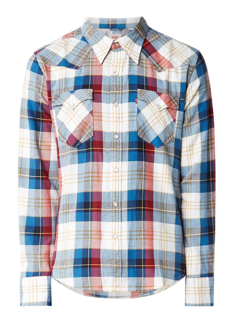 Levi's Regular fit overhemd met ruitdessin en drukknoopsluiting