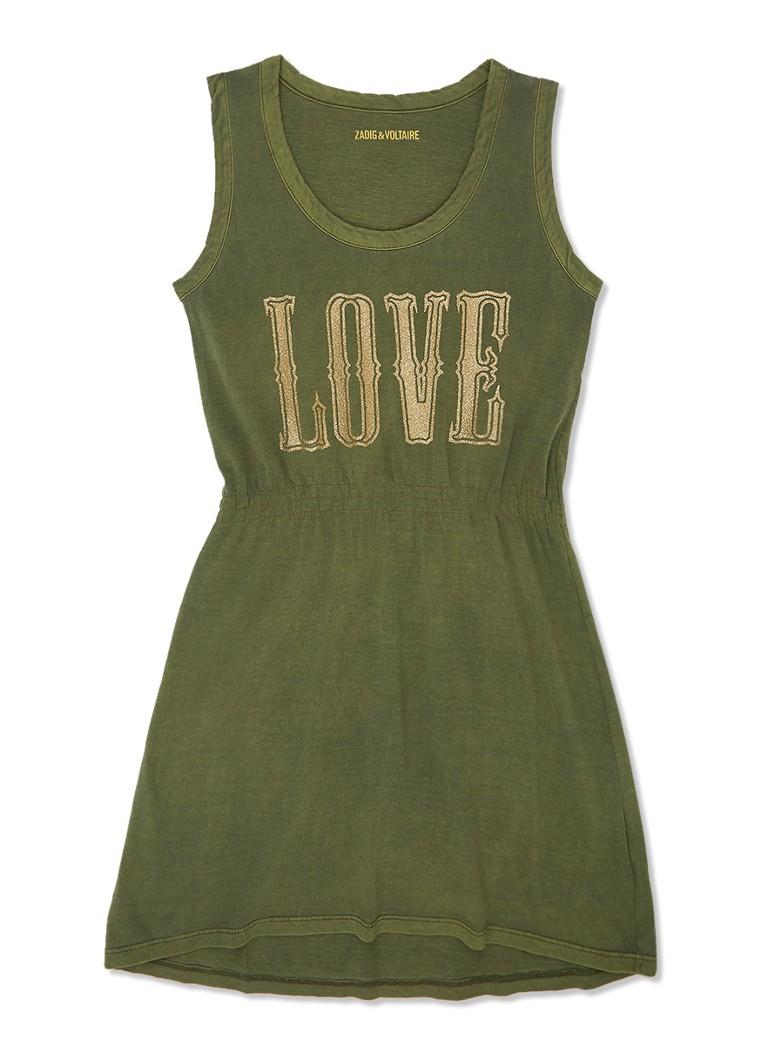 dc2711e3d105db Zadig Voltaire Jersey jurk met glitterprint