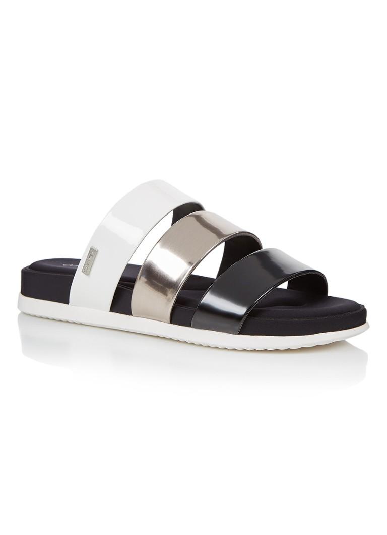 Calvin Klein Dalana slipper met metallic details