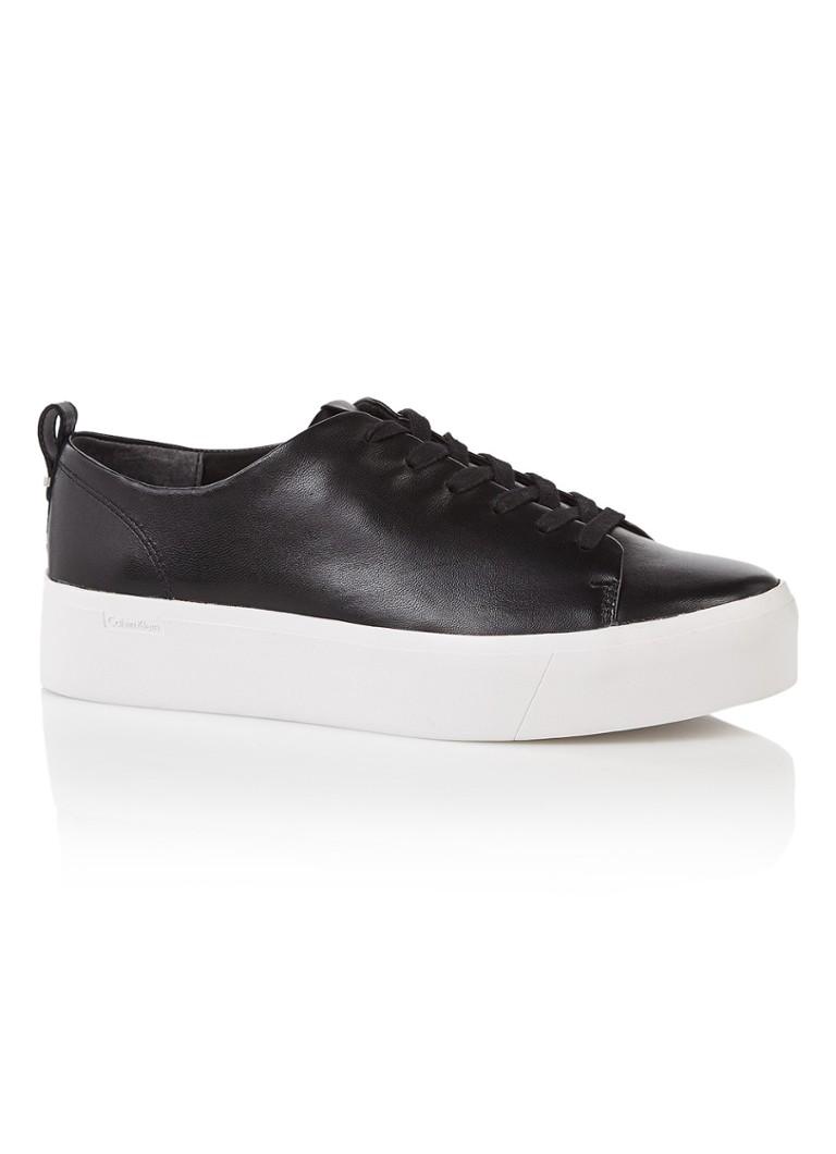 Calvin Klein Janet platform sneaker van nappaleer