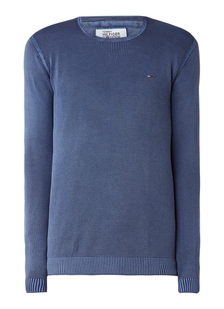 Tommy Hilfiger Pullover van katoen met structuur