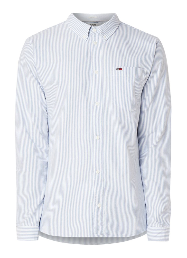 Image of Tommy Hilfiger Classic Ithaca regular fit overhemd met streepdessin