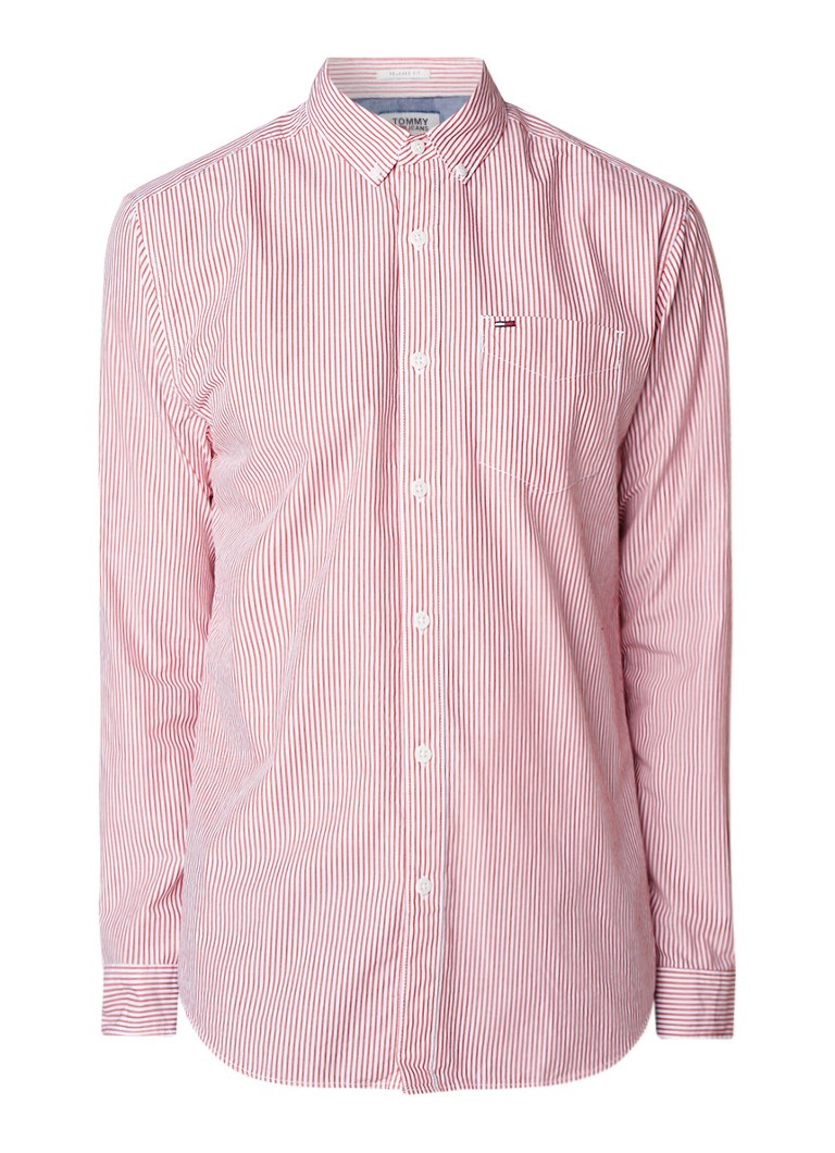 Tommy Hilfiger Relaxed fit button down-overhemd met streepdessin