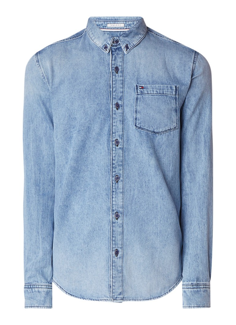 Tommy Hilfiger Classic denim overhemd met borstzak