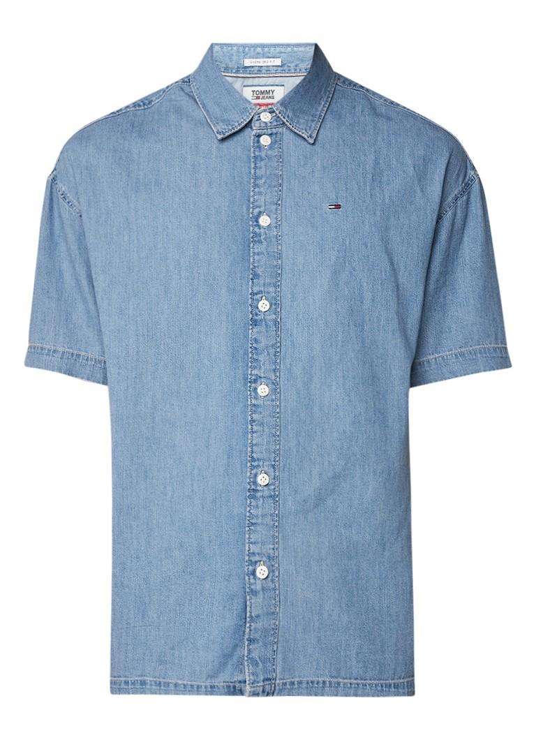 Tommy Hilfiger Summer denim overhemd met korte mouw