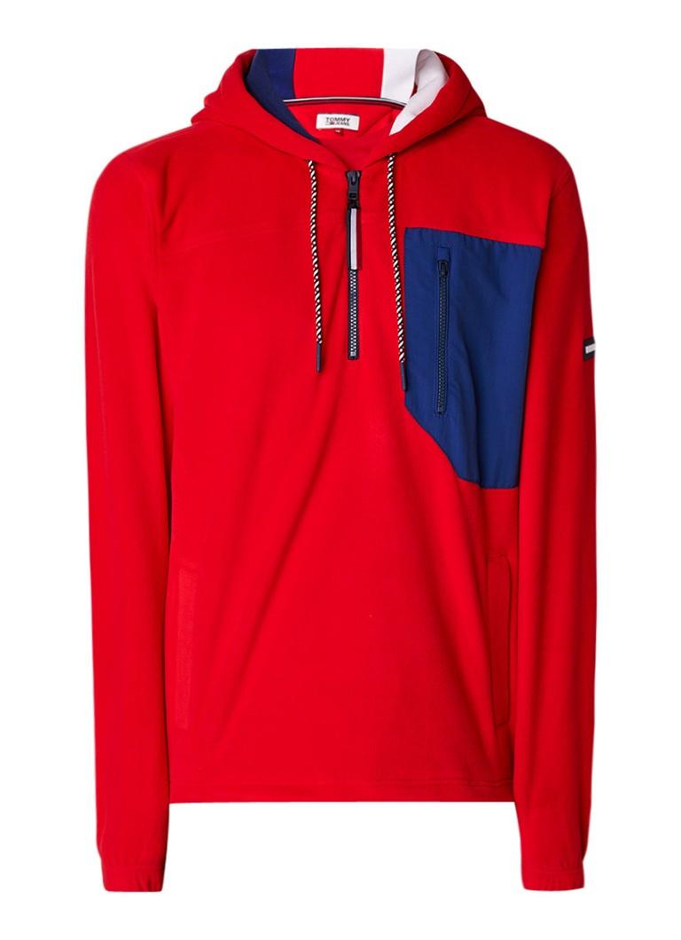 Tommy Hilfiger Polar fleece hoodie met borstzak