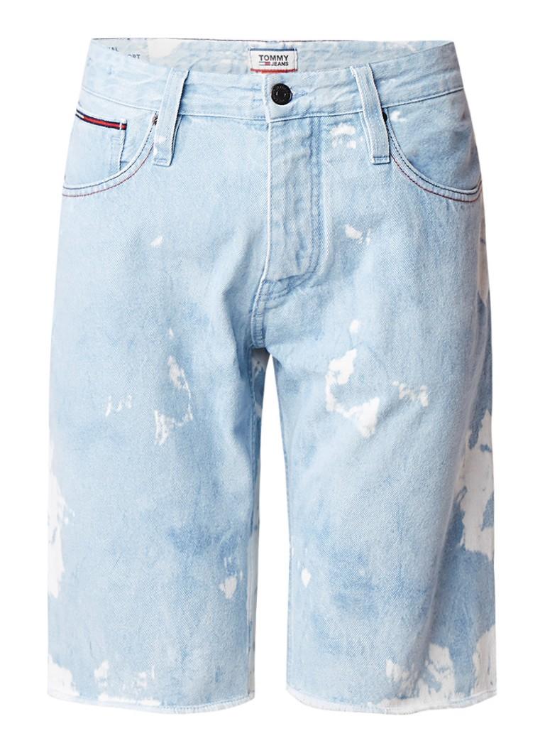 Tommy Hilfiger Ronnie denim shorts met verwassen look