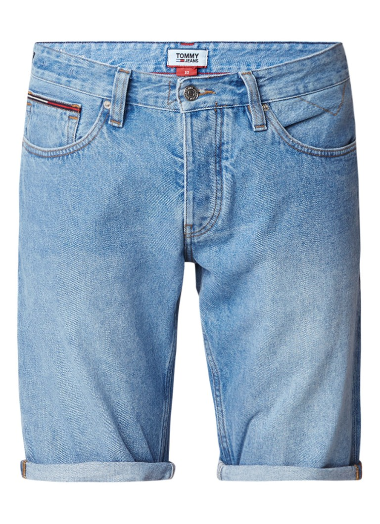 Tommy Hilfiger Ronnie denim shorts met medium wassing